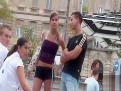 She wears short shorts in public