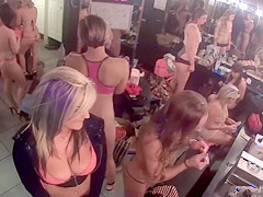 Pretty divas getting nude in the backstage