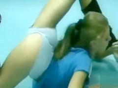 Stunningly flexible girl bends her body in wild ways