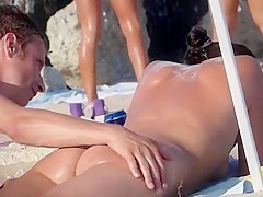 Lean and sexy girl at the nude beach