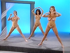 Nude Thai Chi exercise on live TV along staggering women
