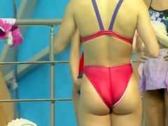 American swimmer has a mind-blowing ass!