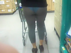 Chasing the lady with the transparent leggings