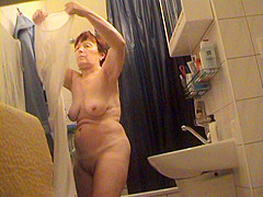 German granny nude in bathroom
