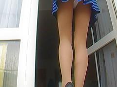look under my skirt