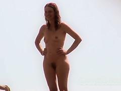 Big Ass hairy pussy close up nude beach milf voyeur