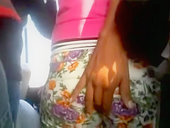 Bus Grope and touching ass