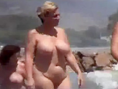 nude beach with fat broads 2