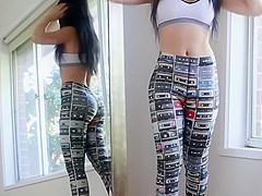 try on leggings