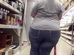 SSBBW Ebony Huge Ass in Jeans