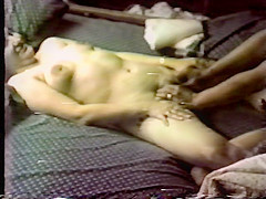 Vintage sex play on a waterbed!
