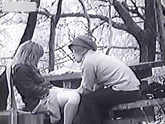 Infrared bench couple fucking