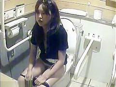Voyeur camera in the ladies toilet