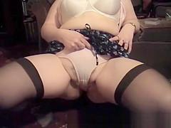 British Milf Gets Her Panties Fucked For Cash