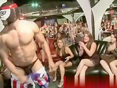 Cfnm ebony spanking cock with her boobs