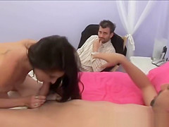 Married Guy Watching His Wife Get Oral With Another Man