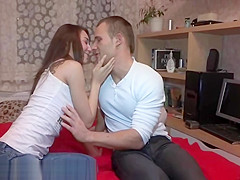 College Boyfriend Pushes Aside Bikini And Fingers Brunette Girlfr