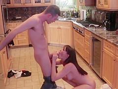 Milf Stepmom Enjoy Sex Not Her Boy In Kitchen