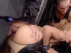 Lakeside anal sex with bent over whore