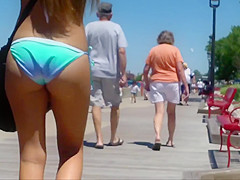 Candid Beach Bikini Butt Ass West Michigan Booty Sorority 2