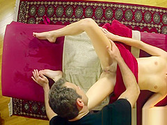 Massage babe seduced by horny masseur