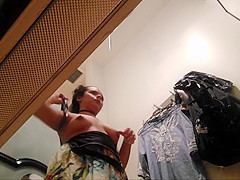 Some Strange Ethnic Titties - Changing Room Fitting Dressing