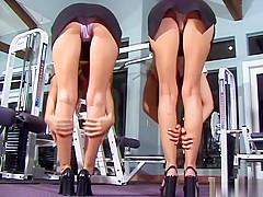 TNV - Celeste & Alicia Gym Upskirts