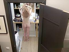 Czech ginger Alexandra Hidden spy camera in bathroom