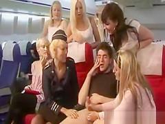 On flight handjob for this luck passenger