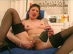 Horny voyeur in the tattoo parlor - DBM Video