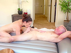 Big tits brunette stepmom fucked by a voyeur stepson