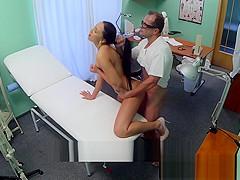 European nurse fucked on the hospital spycam