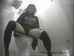Cute Asian Girl Toilet Onanism