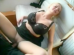 Hot busty MILF goes moaning on the train