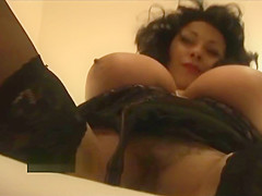 Big tits mature milf Danica in stockings and tight lingerie talks dirty