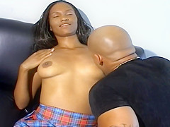 Malaya Takes Devlin Weed For A Ride On A Black Couch