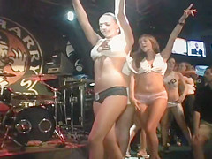 Horny Teen Sluts Do A Sexy Striptease