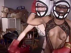 Keisha Knocks Around Hot Chick In Lace