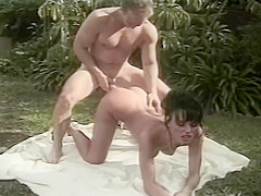Anita Dark Taken Outside And Gets Facial