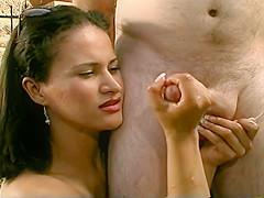 Gala Cruz Gives Slow Hand And Tit Job