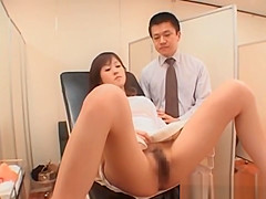 Japanese Babe Goes In For Her Annual Exam
