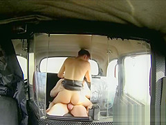 Sexy Brunette Sucks And Fucks In Back Of A Bus