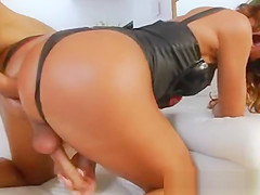 Oiled Up Milf Takes A Dick In Her Ass And Loves It