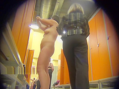 Naked girls in the locker room of the fitness club 0171