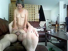 voyeur Clariss on sofa 69 suck fuck boyfriend olivier Starke