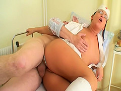 Hospital Patient Gets Extra Special Care From Sexy Nurse