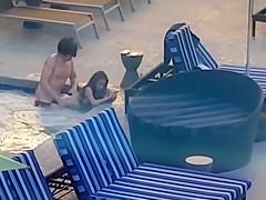 couple fucking in hotel pool