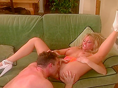 Busty Blond Turned On And Wants To Get Fucked