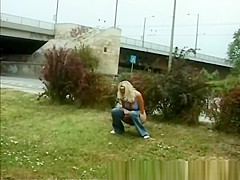 teens pissing in public
