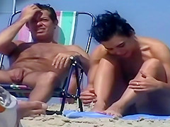 Nude Beach MILFs Voyeur Video